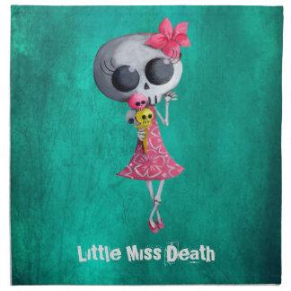 Pequeña Srta. Death con helado de Halloween Servilleta