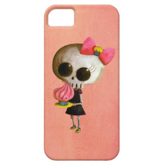 Pequeña Srta Death con la magdalena iPhone 5 Carcasas