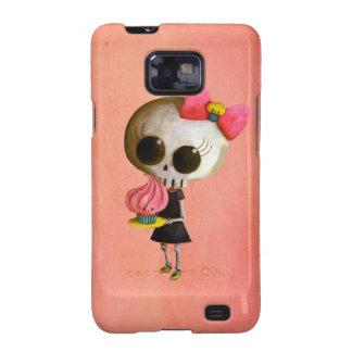 Pequeña Srta Death con la magdalena Samsung Galaxy SII Carcasa