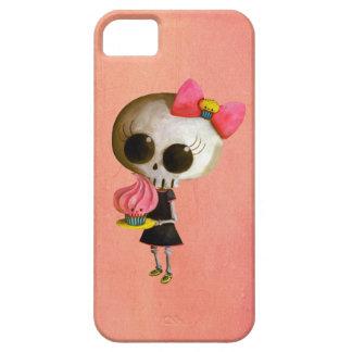 Pequeña Srta. Death con la magdalena iPhone 5 Carcasas
