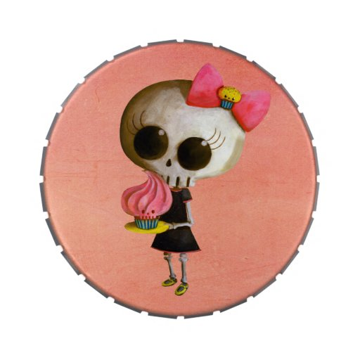 Pequeña Srta. Death con la magdalena Jarrones De Dulces