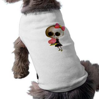 Pequeña Srta. Death con la magdalena Camiseta De Mascota