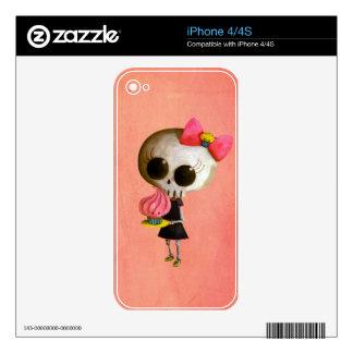 Pequeña Srta. Death con la magdalena Skins Para eliPhone 4