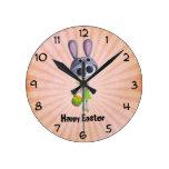 Pequeña Srta. Death de Pascua Relojes De Pared