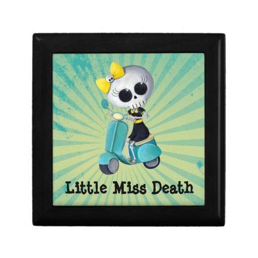 Pequeña Srta. Death en la vespa Caja De Regalo