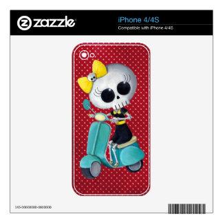 Pequeña Srta. Death en la vespa Calcomanía Para iPhone 4S