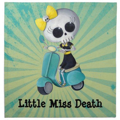 Pequeña Srta. Death en la vespa Servilleta