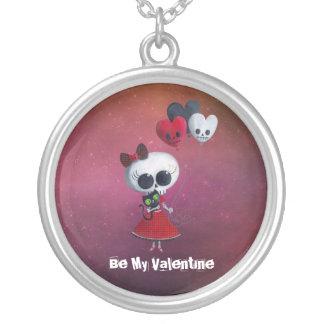 Pequeña Srta. Death Valentine Collar Personalizado