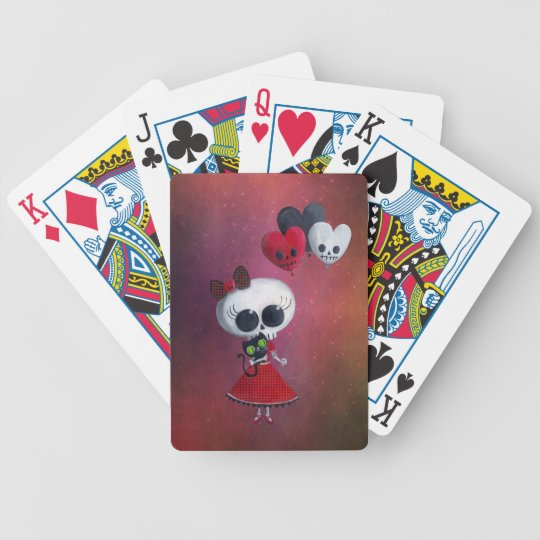 Pequeña Srta. Death Valentine Girl Baraja De Cartas Bicycle