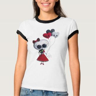 Pequeña Srta. Death Valentine Girl Camisas