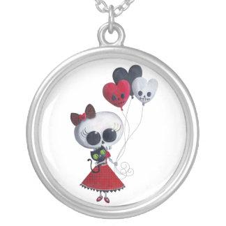 Pequeña Srta. Death Valentine Girl Pendiente Personalizado