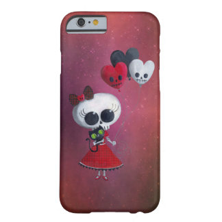 Pequeña Srta. Death Valentine Girl Funda De iPhone 6 Barely There