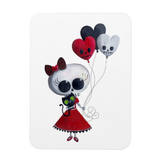 Pequeña Srta. Death Valentine Girl Iman De Vinilo