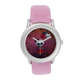 Pequeña Srta Death Valentine Girl Reloj De Mano