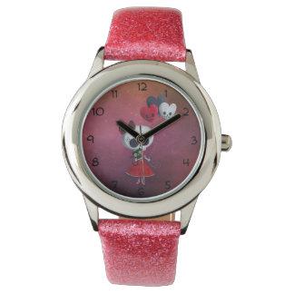 Pequeña Srta. Death Valentine Girl Reloj