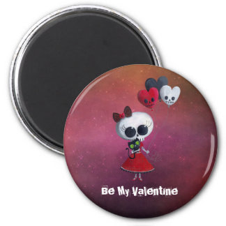 Pequeña Srta. Death Valentine Iman Para Frigorífico
