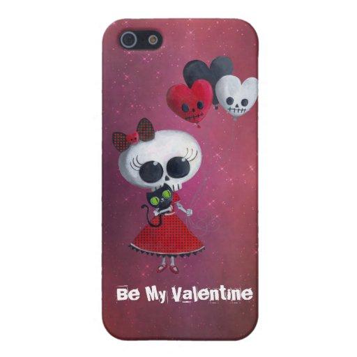 Pequeña Srta. Death Valentine iPhone 5 Protector