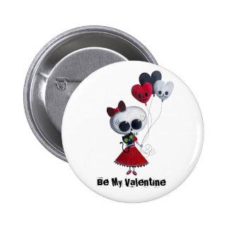 Pequeña Srta Death Valentine Pin