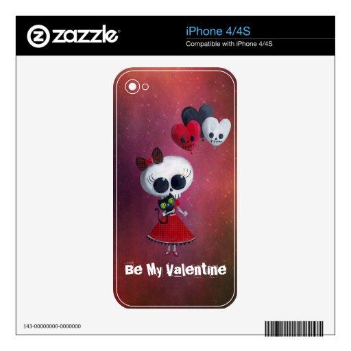 Pequeña Srta. Death Valentine Skins Para eliPhone 4