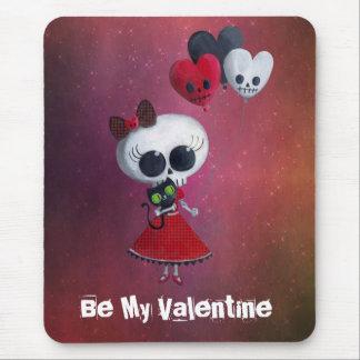 Pequeña Srta. Death Valentine Alfombrillas De Ratones