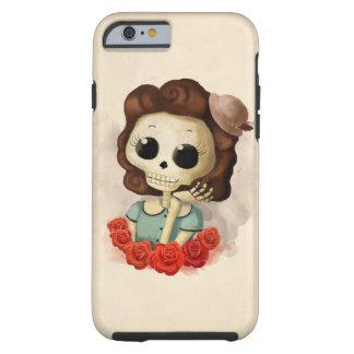 Pequeña Srta. Death y rosas Funda Para iPhone 6 Tough