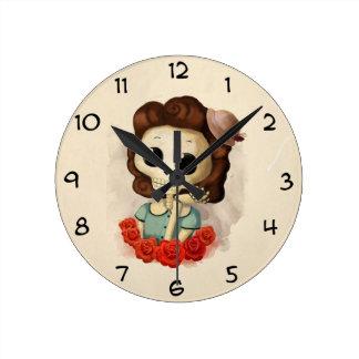 Pequeña Srta. Death y rosas Reloj