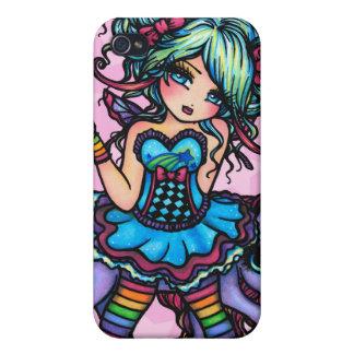 Pequeña Srta. Deelish Fairy Unicorn princesa fanta iPhone 4/4S Funda