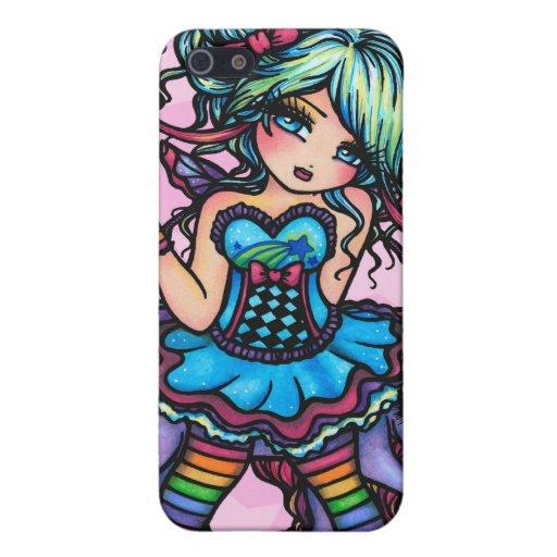 Pequeña Srta. Deelish Fairy Unicorn princesa fanta iPhone 5 Fundas