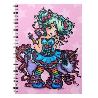 Pequeña Srta. Deelish Fairy Unicorn princesa fanta Cuaderno