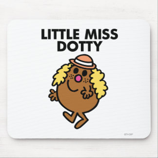Pequeña Srta. Dotty Waving Alfombrilla De Ratón