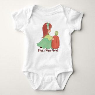 Pequeña Srta. Fall y su calabaza Body Para Bebé