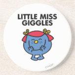 Pequeña Srta. Giggles Classic Posavasos Manualidades