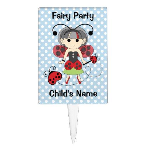 Pequeña Srta. Ladybug Fairy princesa y vara del in Decoración Para Tarta