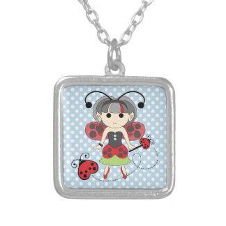 Pequeña Srta. Ladybug Fairy princesa y vara del in Collares
