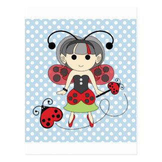 Pequeña Srta. Ladybug Fairy princesa y vara del Tarjetas Postales