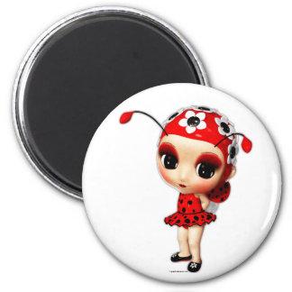 Pequeña Srta. Ladybug Imanes Para Frigoríficos