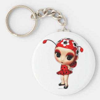 Pequeña Srta Ladybug Llaveros