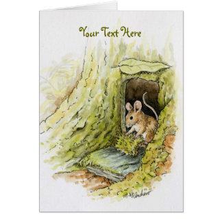 Pequeña Srta. Mouse - texto adaptable Tarjeta De Felicitación