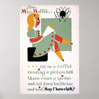 Pequeña Srta. Muffet 1936 de WPA Póster