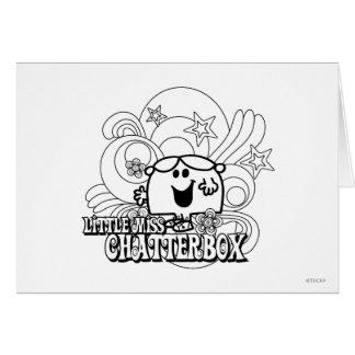 Pequeña Srta. negra y blanca Chatterbox Tarjeta De Felicitación