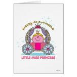 Pequeña Srta. princesa y carro Felicitaciones