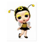Pequeña Srta. señora Bumblebee Tarjeta Postal