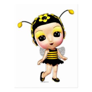 Pequeña Srta. señora Bumblebee Postal