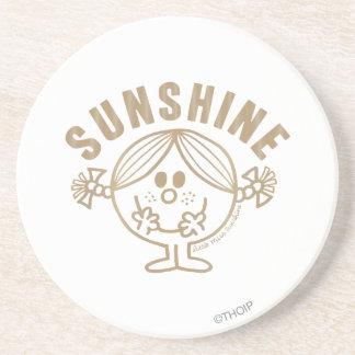 Pequeña Srta. Sunshine de Brown Posavasos Diseño