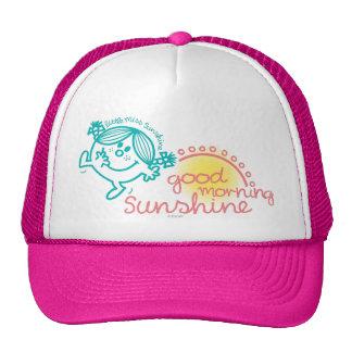 Pequeña Srta. Sunshine de la buena mañana Gorras