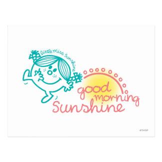Pequeña Srta. Sunshine de la buena mañana Postal