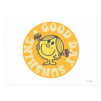 Pequeña Srta. Sunshine del buen día Postales