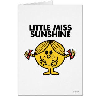 Pequeña Srta. Sunshine el | divertido y pecoso Tarjeta De Felicitación