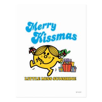 Pequeña Srta. Sunshine el | feliz Kissmas Postales