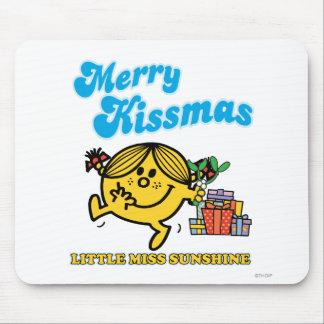 Pequeña Srta. Sunshine el   feliz Kissmas Tapete De Ratón